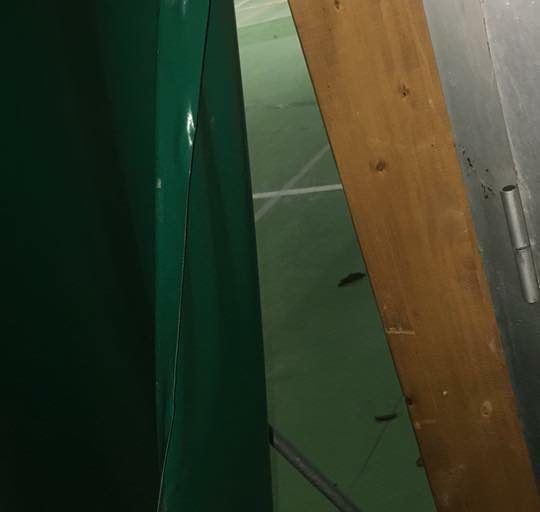 Giulianova, Tensostruttura del Palacastrum chiusa per rifacimento della pavimentazione