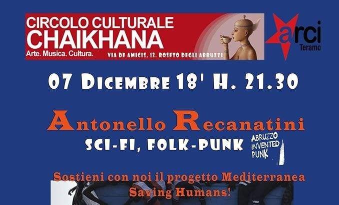 Roseto, al circolo Chaikhana concerto raccolta fondi per Mediterranea
