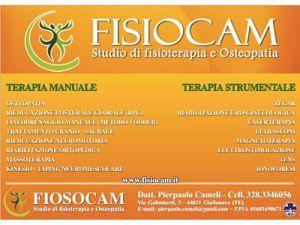 FISIOCAM STUDIO DI FISIOTERAPIA E OSTEOPATIA Trattamenti specialistici anche per Sportivi