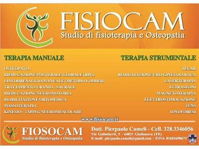 FISIOCAM Studio di FISIOTERAPIA ed OSTEOPATIA Riabilitazione Trattamenti personalizzati per sportivi Osteopatia-Pediatrica