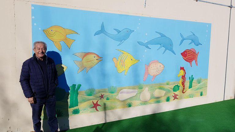 Montesilvano, un murales dedicato al mare nella scuola Berardinucci