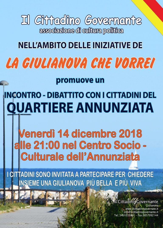 Incontro de Il Cittadino Governante all'Annunziata per 'La Giulianova che vorrei'
