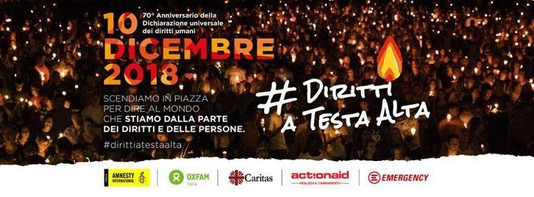Pescara, a Piazza Muzii la fiaccolata per i Diritti umani