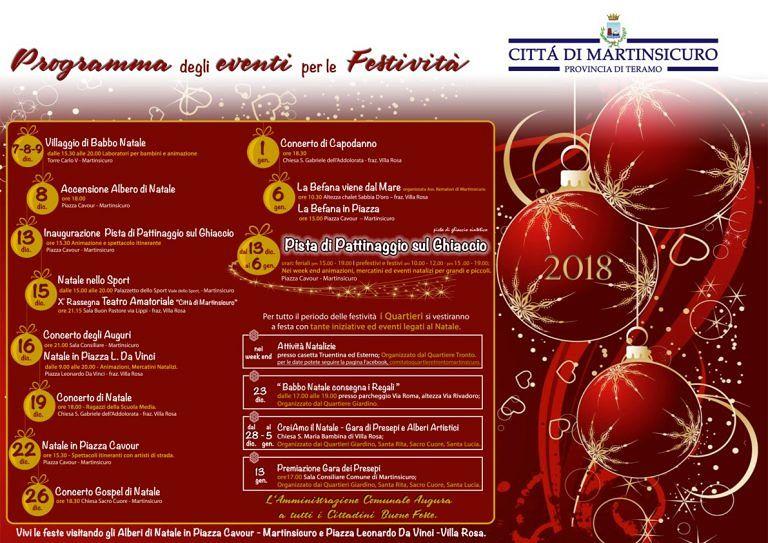 Martinsicuro, ecco il calendario degli eventi di Natale. C'è anche la pista sul ghiaccio in piazza Cavour