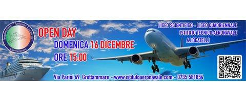 OPEN DAY | LICEO SCIENTIFICO - LICEO QUADRIENNALE, ISTITUTO TECNICO AERONAVALE ANTONIO LOCATELLI | DOMENICA 16 DICEMBRE ORE 15:00, GROTTAMMARE (AP)