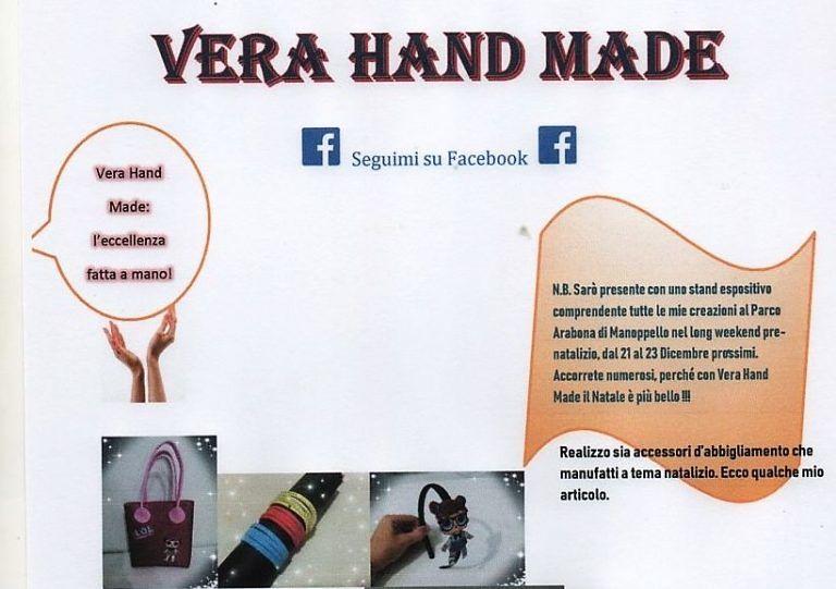 Manoppello, hand made: il mercatino di Vera