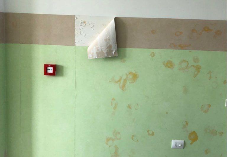 Montesilvano, il nuovo distretto sanitario danneggiato prima di aprire FOTO
