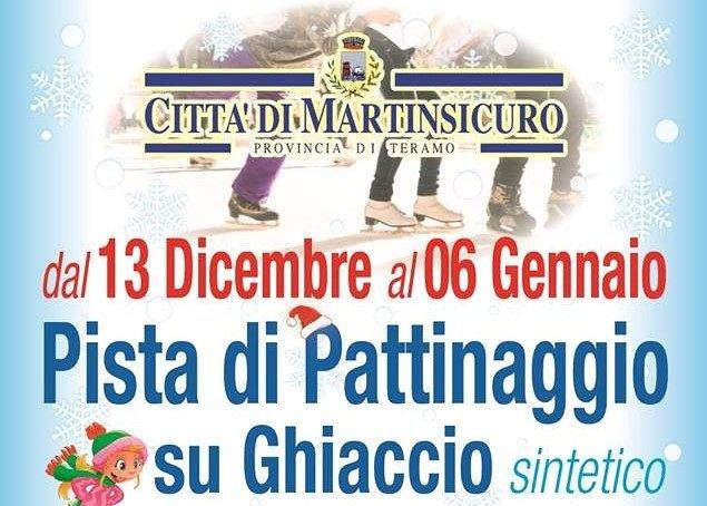Martinsicuro, pista di pattinaggio sul ghiaccio: tutto pronto per l'apertura