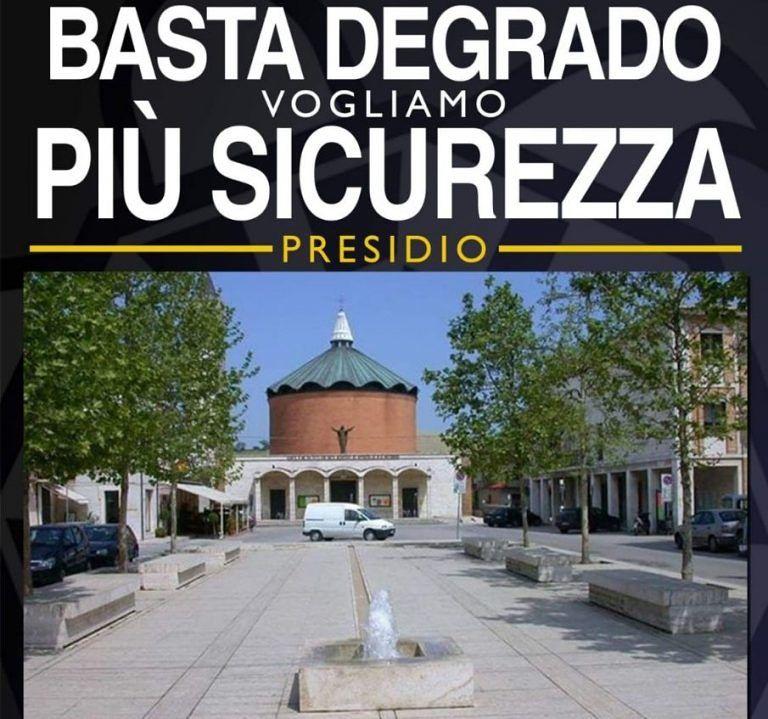 Sant'Egidio, degrado e sicurezza: presidio di CasaPound in piazza