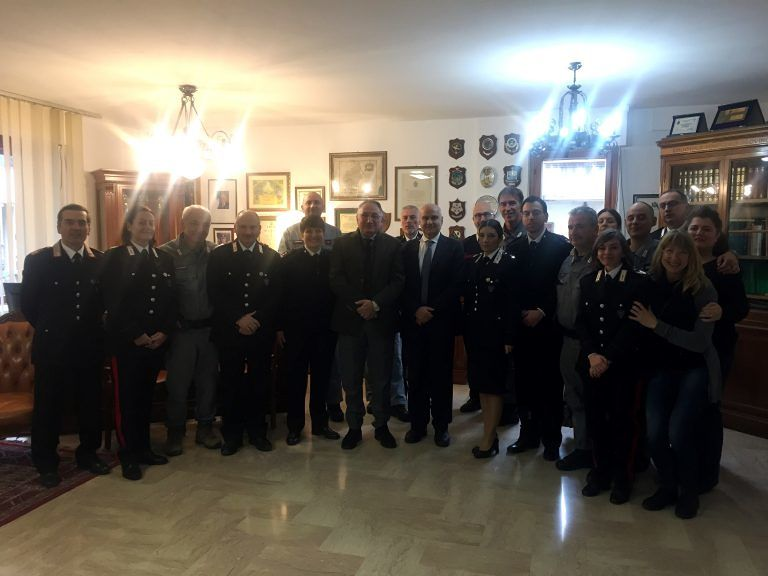 Teramo, visita del procuratore Guerriero ai Carabinieri Forestali