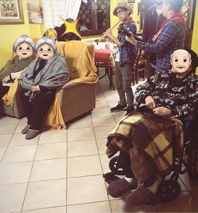 A casa in compagnia Res per anziani Centro diurno per anziani parz.autosuf.Cologna (TE)