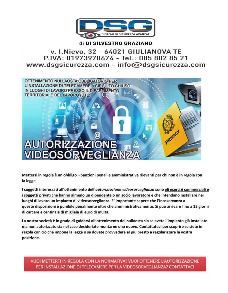 DSG SISTEMI DISICUREZZA AVANZATI Giulianova (TE) Progettazione, montaggio ed assistenza 24hsu24h