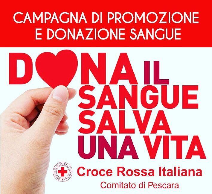 Pescara, il gruppo donatori della Croce Rossa in Piazza Salotto