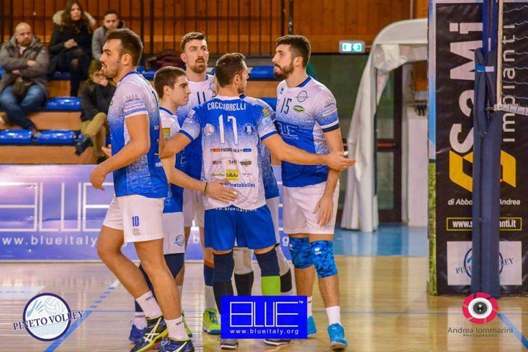 Volley: partita da dimenticare per la Blueitaly Pineto che cade a Cerignola