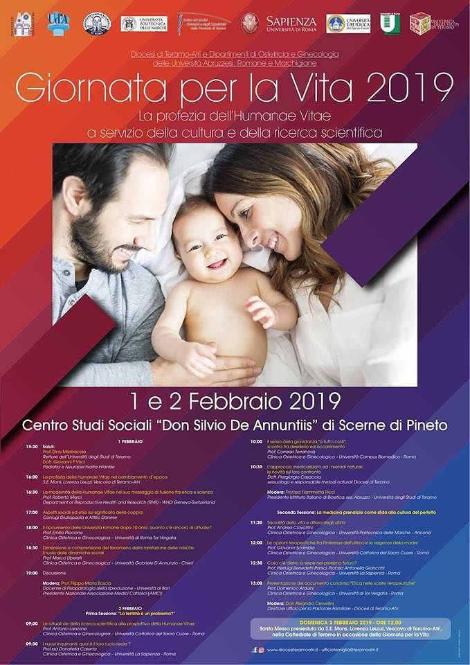 Giornata per la vita 2019: convegno al Centro Studi Don Silvio De Annuntiis di Scerne