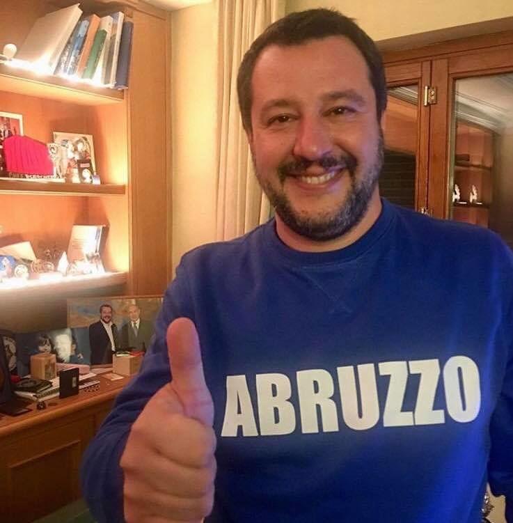 Elezioni Abruzzo, Salvini ringrazia gli abruzzesi su Facebook: 'da domani a lavoro'