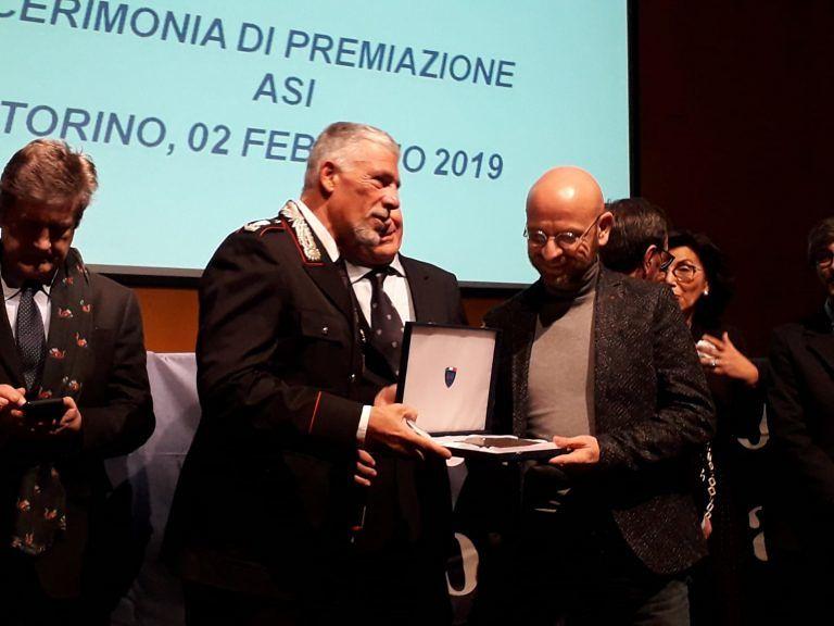 Teramo, il presidente dell'Aci Cellinese premiato a Torino per il più bel raduno motoristico