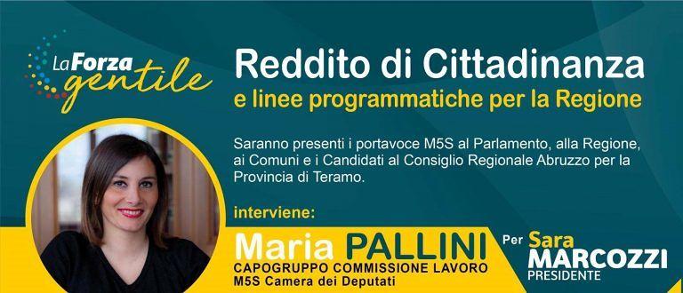 Silvi, tutto sul reddito di cittadinanza: incontro con l'On. Maria Pallini