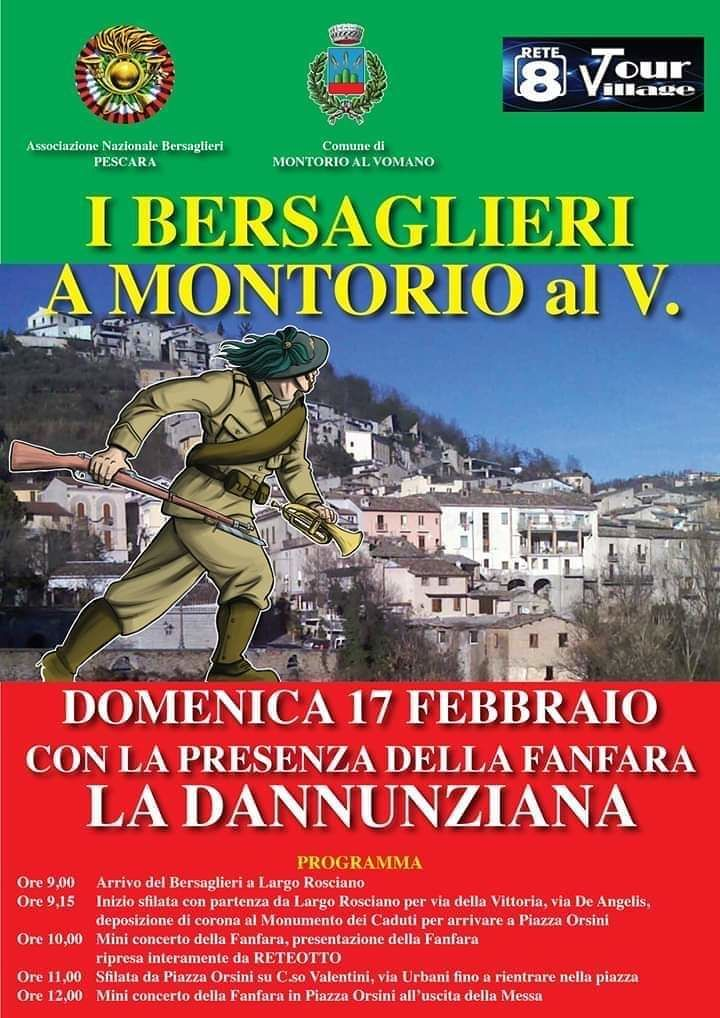 Montorio, i bersaglieri di Pescara protagonisti di una giornata evento
