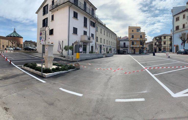 Sant'Egidio, completata la riqualificazione di piazza Duca degli Abruzzi FOTO