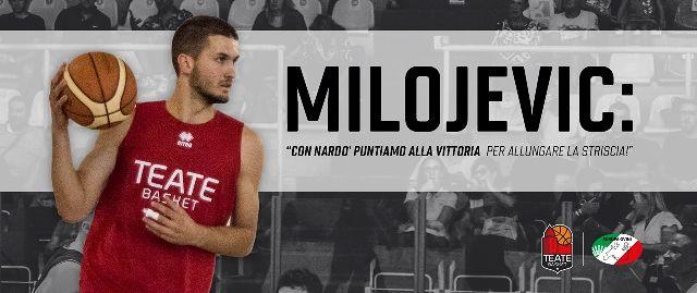 Europa Ovini Chieti, Milojevic: 'Con Nardò puntiamo alla vittoria per allungare la striscia!'