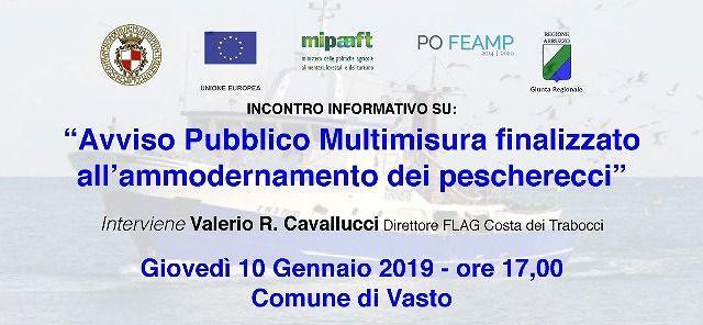 Vasto, finanziamento per l'ammodernamento dei pescherecci: incontro in Municipio