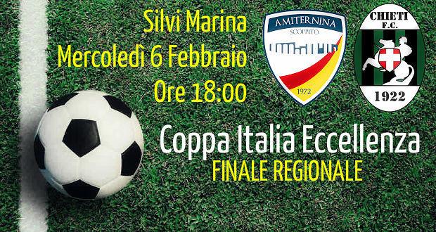 Eccellenza, la finale di Coppa Italia a Silvi: Amiternina e Chieti si contendono il trofeo
