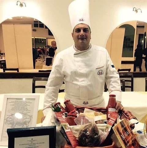 Lo chef di Castel Frentano Adriano D'Ovidio a Sanremo
