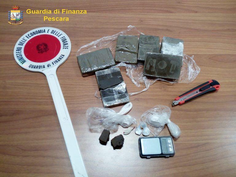 Oltre 600 grammi di Droga in auto: arrestati 2 giovani pescaresi VIDEO