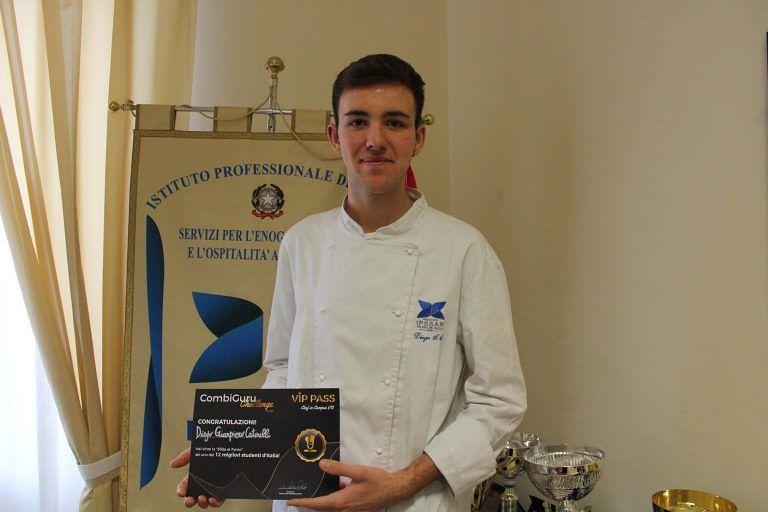 Pescara, Diego Catinelli tra i migliori 12 studenti chef d'Italia