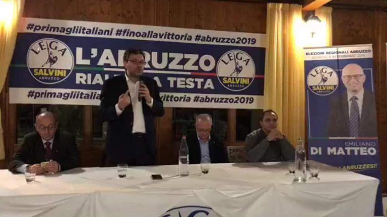 Elezioni, Giancarlo Giorgetti ad Alba Adriatica: bisogna avere il coraggio di fare le opere VIDEO
