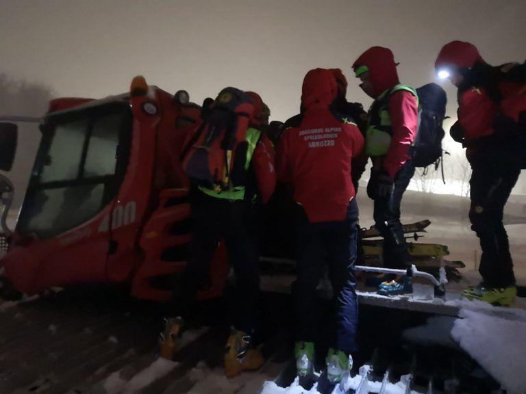 Passolanciano, sciatrice dispersa trovata in un fosso FOTO