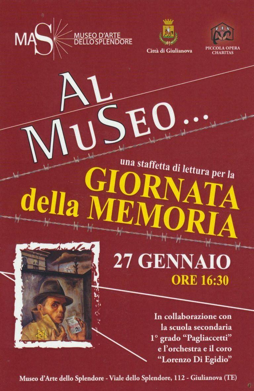 Giulianova, Giornata della Memoria al Mas con la scuola Pagliacetti
