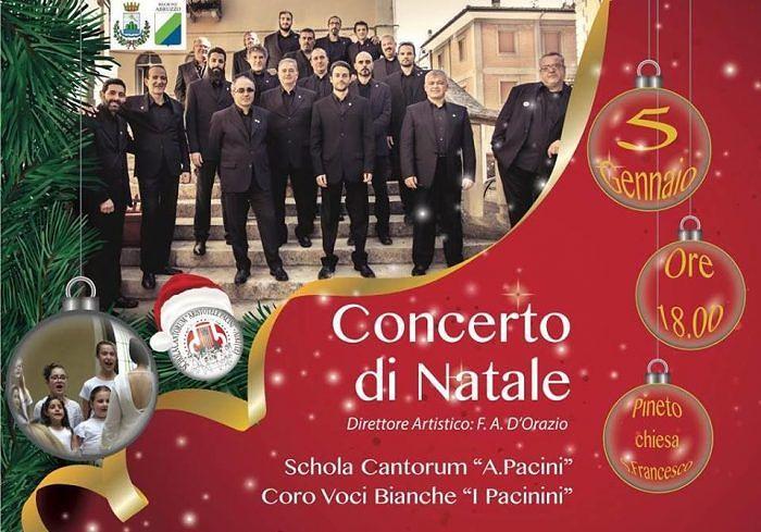"""Pineto, nella chiesa di San Francesco il concerto della Schola Cantorum """"Pacini"""""""