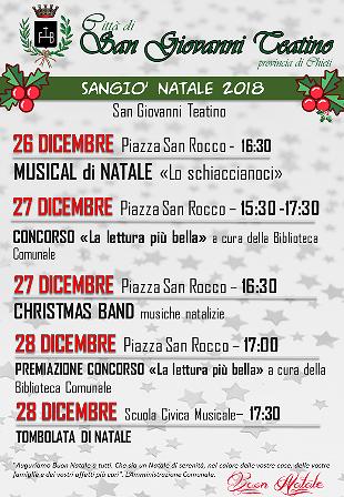 San Giovanni Teatino, gli eventi del Sangio' Natale