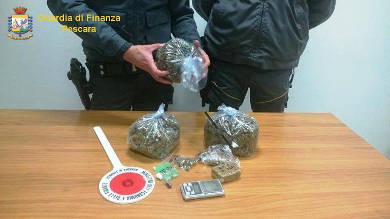 Pescara, sequestrati 300 grammi di droga in 2 giorni