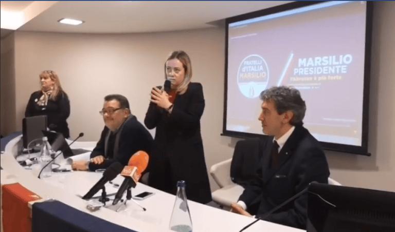 Elezioni, Giorgia Meloni a Teramo: siamo una garanzia per i cittadini