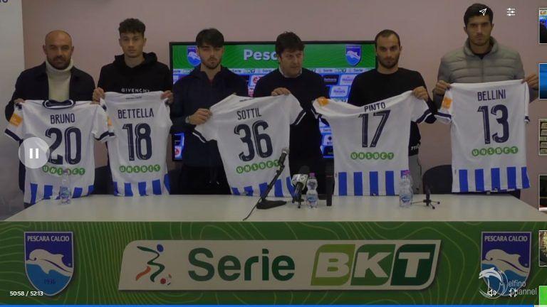 Pescara, vigilia col Brescia: ecco i nuovi acquisti VIDEO