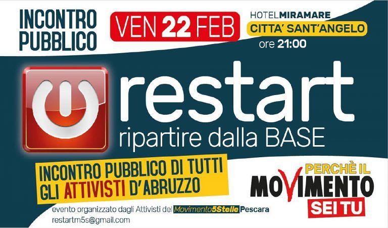 Pescara, il Movimento 5 Stelle riparte dalla base e dagli attivisti con Restart