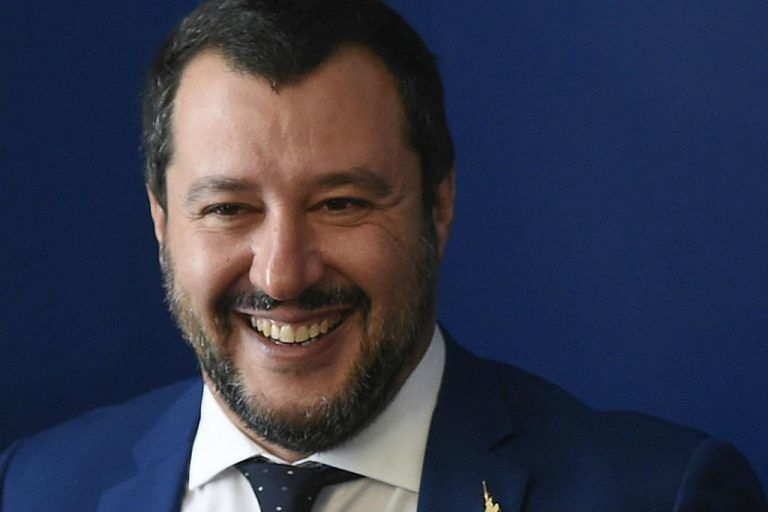 Salvini a Montesilvano per la campagna di De Martinis