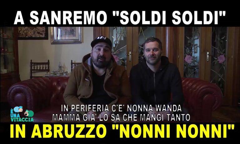 """A Sanremo """"Soldi"""", in Abruzzo """"Nonni"""": la parodia di 'E' una vitaccia' diventa virale"""