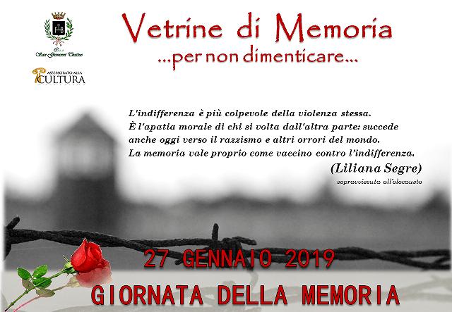 Il Giorno della Memoria. Iniziative a San Giovanni Teatino