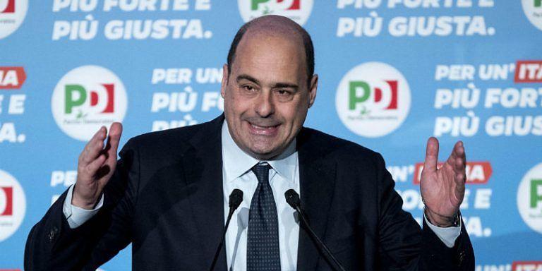 Il presidente della Regione Lazio Nicola Zingaretti a Teramo per le primarie del PD