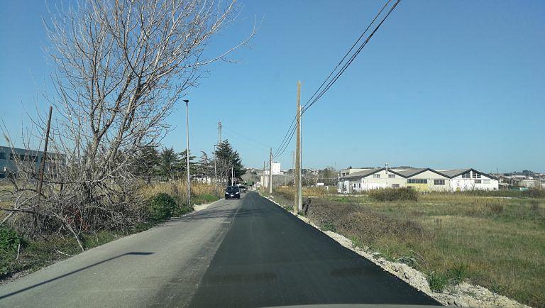 Montesilvano, via Tamigi: completato l'asfalto nuovo