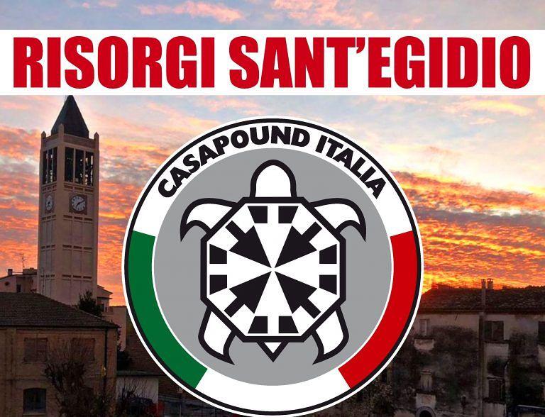 """Elezioni, """"risorgi Sant'Egidio"""": lo slogan di CasaPound per le amministrative"""
