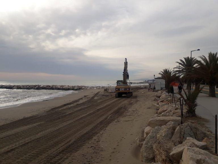 Lungomare sud di Villa Rosa: avviati gli interventi di ripristino anche del litorale