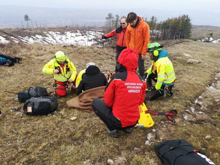 Passo Lanciano, intervento di soccorso per un infortunio ad una escursionista