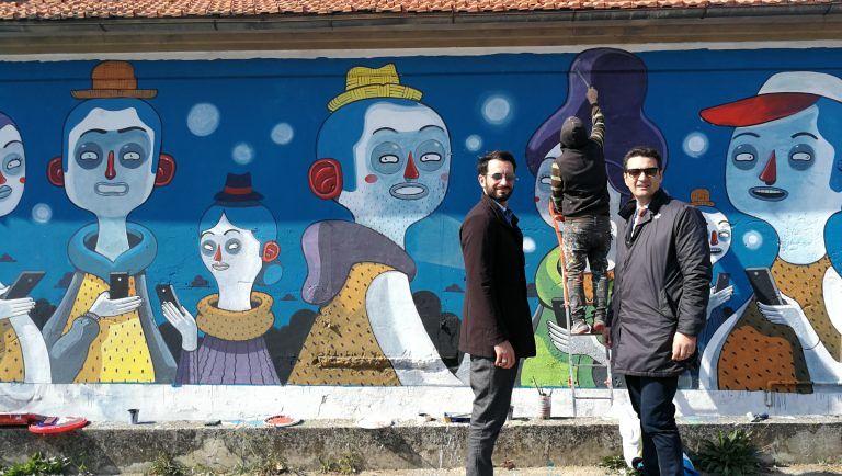 Montesilvano, rigenerazione urbana: compleatata Radical Zombie, l'opera di street art di Mr.Thoms