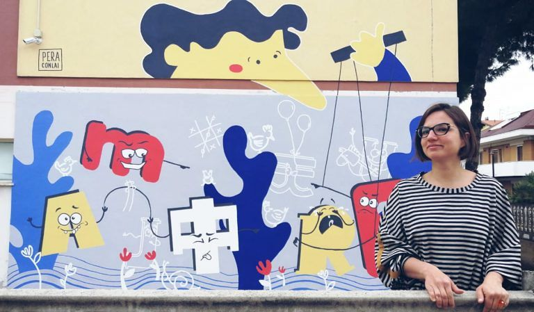 Montesilvano, Mare d'amore: un murales nella scuola di via Lazio