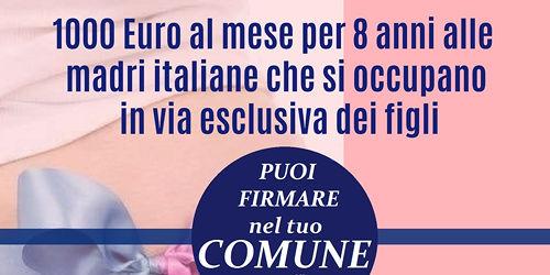 Reddito di maternità: mobilitazione in Abruzzo per la raccolta firme